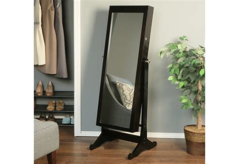 full length mirror and jewelry armoire jewelry armoire with full length mirror sharper image