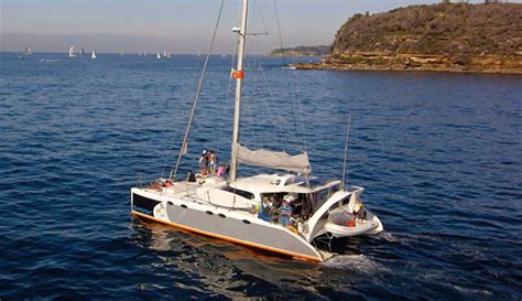 catamaran hire manly barefoot boat hire private catamaran hire on sydney harbour