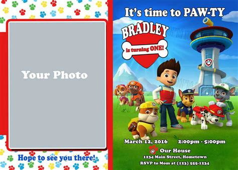 printable birthday invitations paw patrol personalized printable invitations cmartistry paw