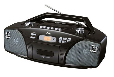 cd cassette radio portable radio am fm jvc rcez31 with cd and cassette