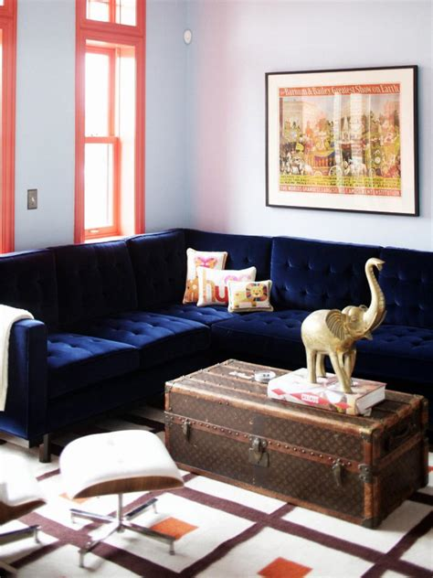 blue couches living rooms unexpected color palettes color palette and schemes for