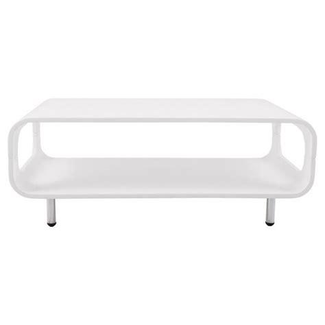 table basse rectangulaire lomme en bois laqu 233 blanc