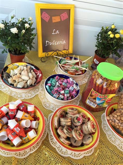 mexican candy buffet mexican themed fiesta party