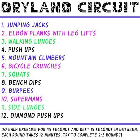 fit fridays dryland circuit jolyn