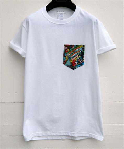 pattern pocket shirt men s marvel captain america pattern white pocket t shirt