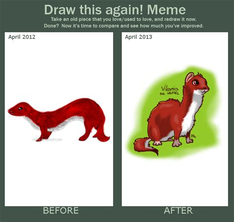 Weasel Meme - draw this again meme weasel by ithlini on deviantart