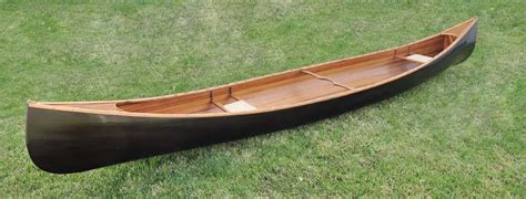 canoe with ribs stained finish 18 k045 decor