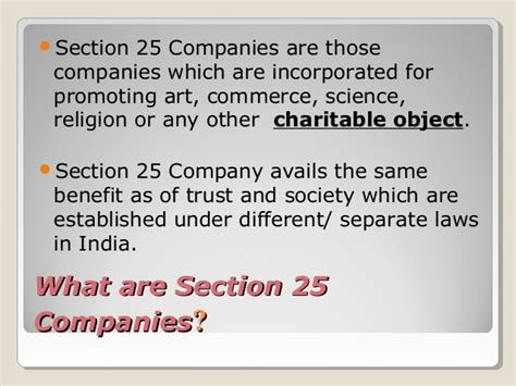 Section 25 Company Registration In India Http Www