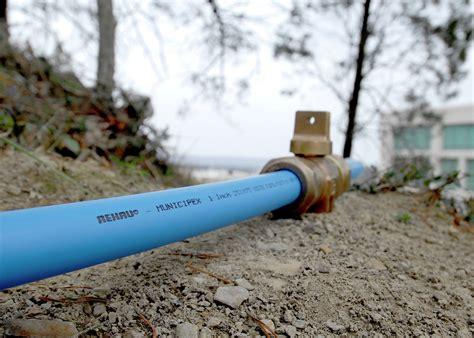 Municipal Plumbing rehau municipal piping pex water service piping