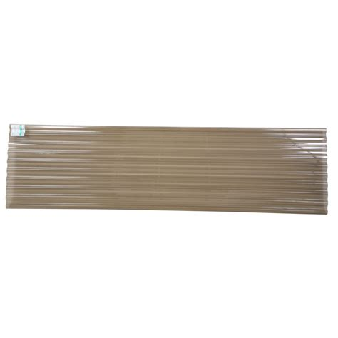 Clear Corrugated Roof Panels Tuftex Polycarb 26 In X 12 Ft Translucent Corrugated