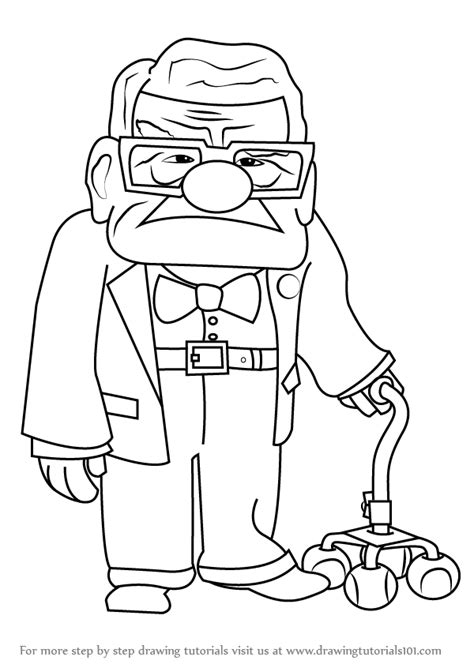 Drawing Up by Learn How To Draw Carl Fredricksen From Up Up Step By