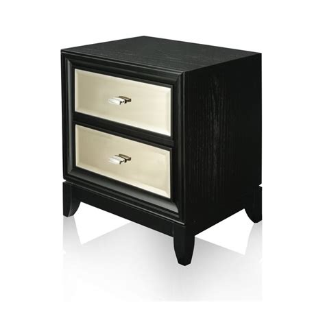 2 drawer nightstand black furniture of america bettyann 2 drawer nightstand in black