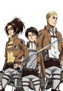 Hanji levi and erwin render by buntglass on deviantart