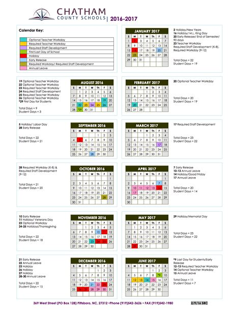 county schools calendar chatham county schools homepage