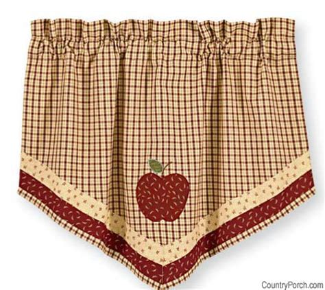 country apple curtains apple jack lined single point curtain valance