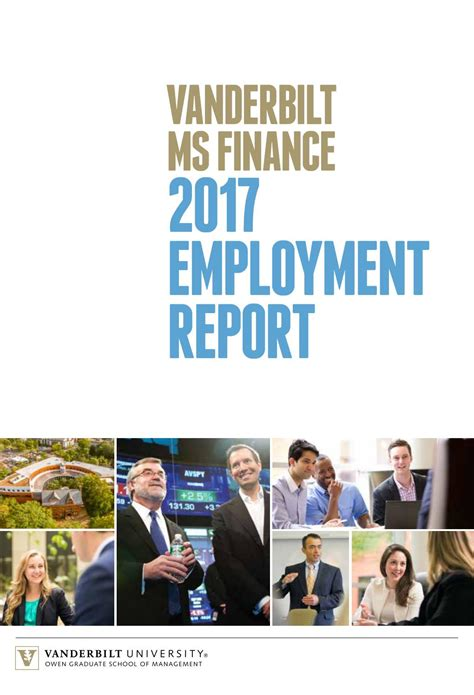 Mba Vanderbilt Hiring Companies by Vanderbilt Ms Finance Employment Report By Vanderbilt Owen