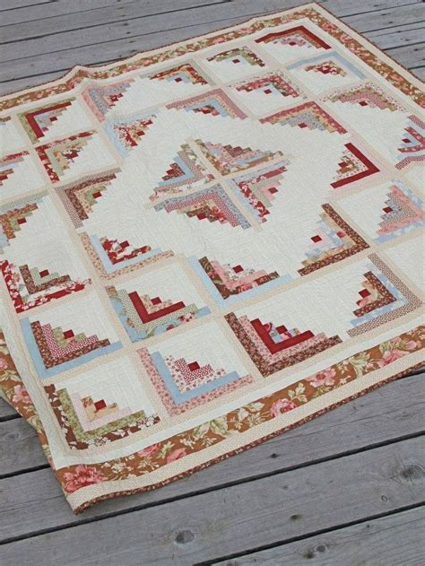 Patchwork Cabin - 15 best curvy log cabin quilts images on log