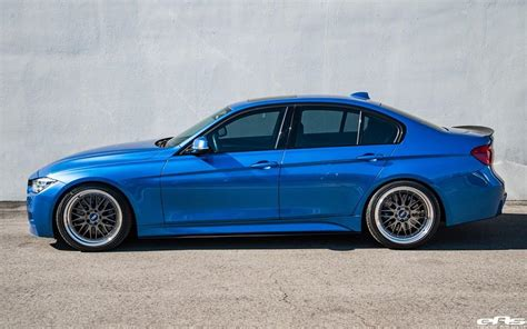 bmw 340i f30 the fashionable estoril blue on bbs lm wheels