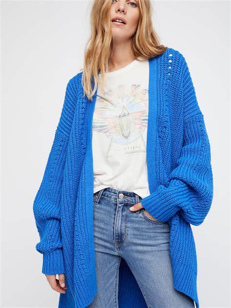 Cardigan Cardi Blue free clothes sweaters cardigans nightingale cardi