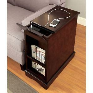 Small Table Ls With Outlets by 1 Cabinet W 2 Shelves Wooden Side Table W Built In Usb
