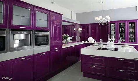 purple kitchens purple kitchen my home decor ideas