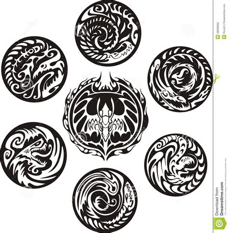 round dragon designs stock photography image 28009092