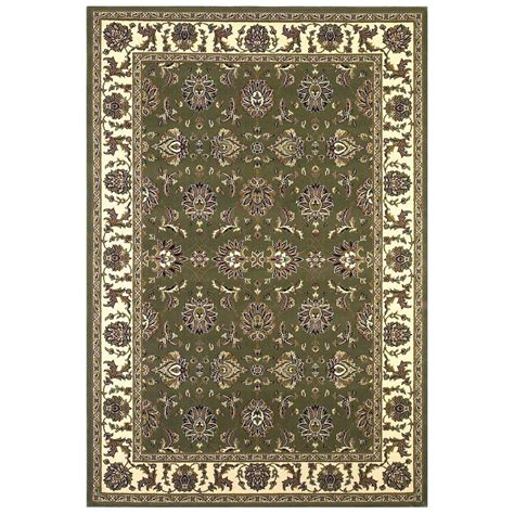 9 Ft Rugs by Kas Rugs Traditional Kashan Green Ivory 9 Ft 10 In X 13
