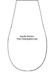 dog ears coloring page dog ear template google search dog party pinterest