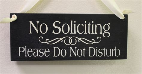 no soliciting sign do not disturb handpainted wood