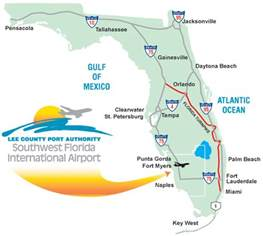 florida airports map attractions