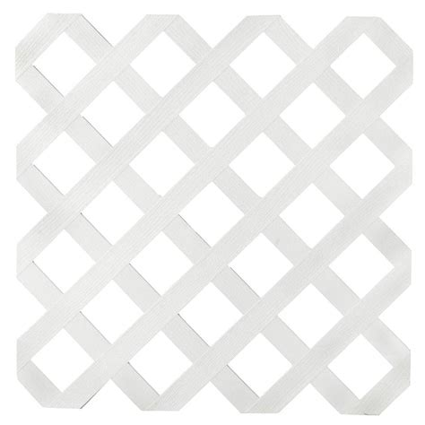 1 8 in x 24 in x 8 ft white garden plastic lattice