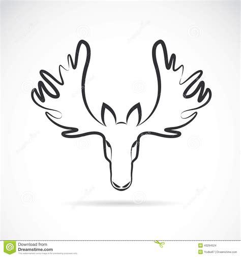 vector images of moose deer head stock vector image