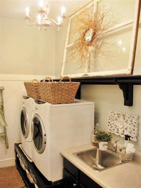 chic laundry room decorating ideas hgtv
