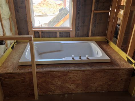 bathtub framing framing around bathtub bing images