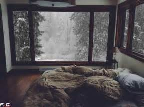 cozy bed a cozy bed on a snowy day gifs