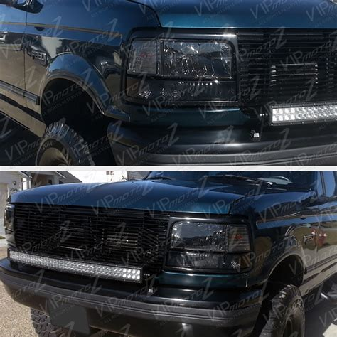1996 f150 tail lights ford 1992 1996 f150 f250 f350 bronco smoke 8p headlight