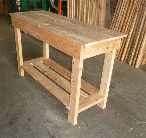 wooden work bench  long garage bench  ebay