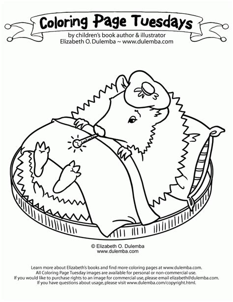 Coloring Page Tuesdays by Dulemba Coloring Page Tuesday Poorly Hedgehog
