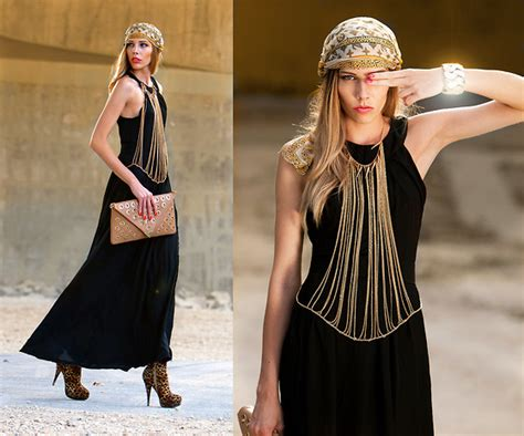d 6ks black maxi dress louis vuitton scarf