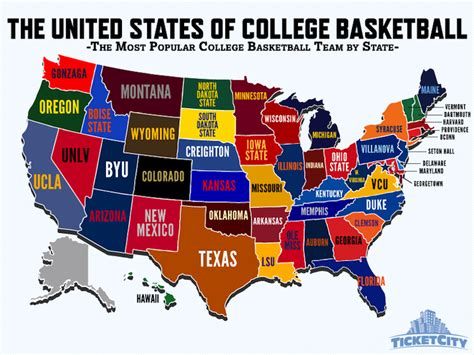 which college basketball team does your state care about