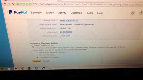 ebay dispute how to open up a dispute claim in paypal youtube