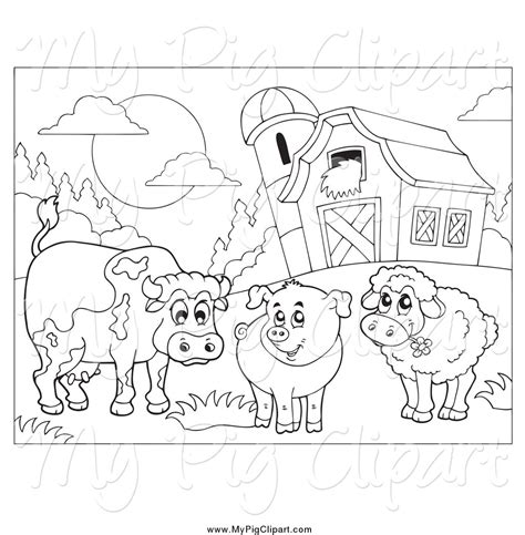 free coloring pages of barn animals