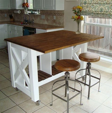 rustic kitchen island table do it yourself kitchen island rustic x kitchen island