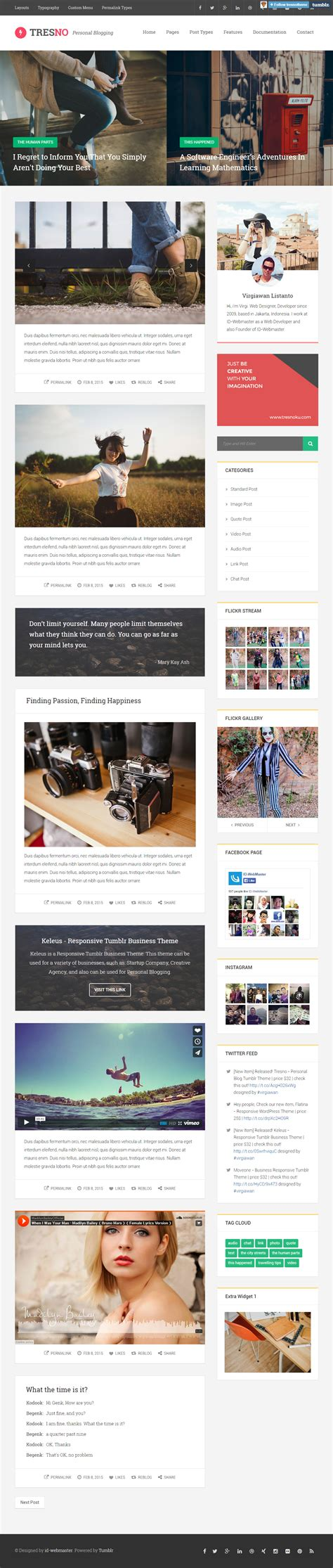 themes tumblr responsive 5 best responsive tumblr blog themes in 2015