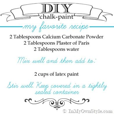 diy chalk paint with calcium carbonate diy chalk paint recipes make chalk paint in my own style
