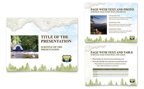 presentation templates for tourism nature cing hiking powerpoint presentation template