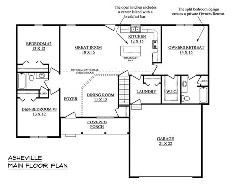 single story floor plans with open floor plan one story floor plans best open one story house plans