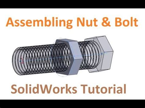 solidworks tutorial bolt create threads and holes easily using thread and hole