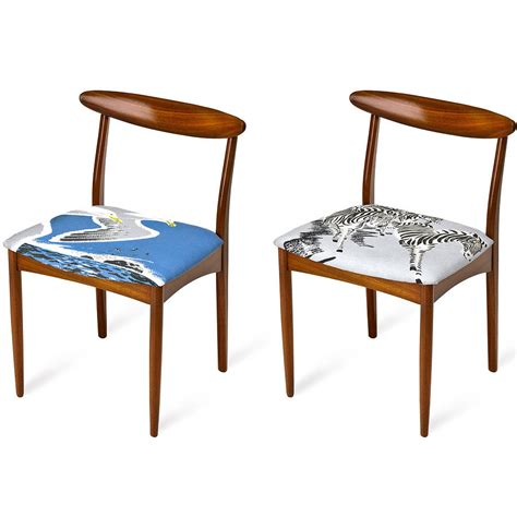 Zebra Dining Chairs Set Of Two Bird And Zebra Dining Chairs By Bobbin Fleck Notonthehighstreet