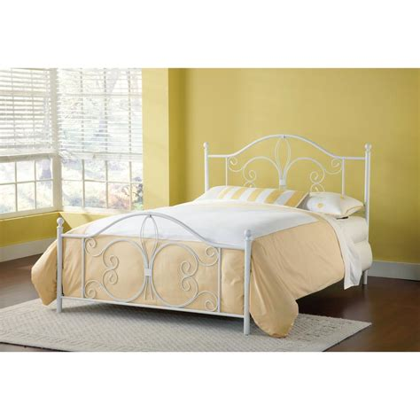 Hillsdale Bed Frame Hillsdale Furniture Ruby Textured White Bed Frame